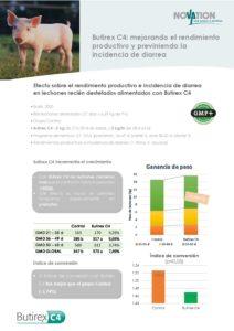 Butirex C4 - Mejorando el rendimiento productivo y previniendo la incidencia de diarrea